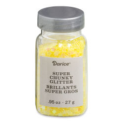 Darice Glitter - Super Chunky, Yellow Daisy, 0.95 oz
