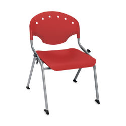 OFM Rico Chair - Red, 16''