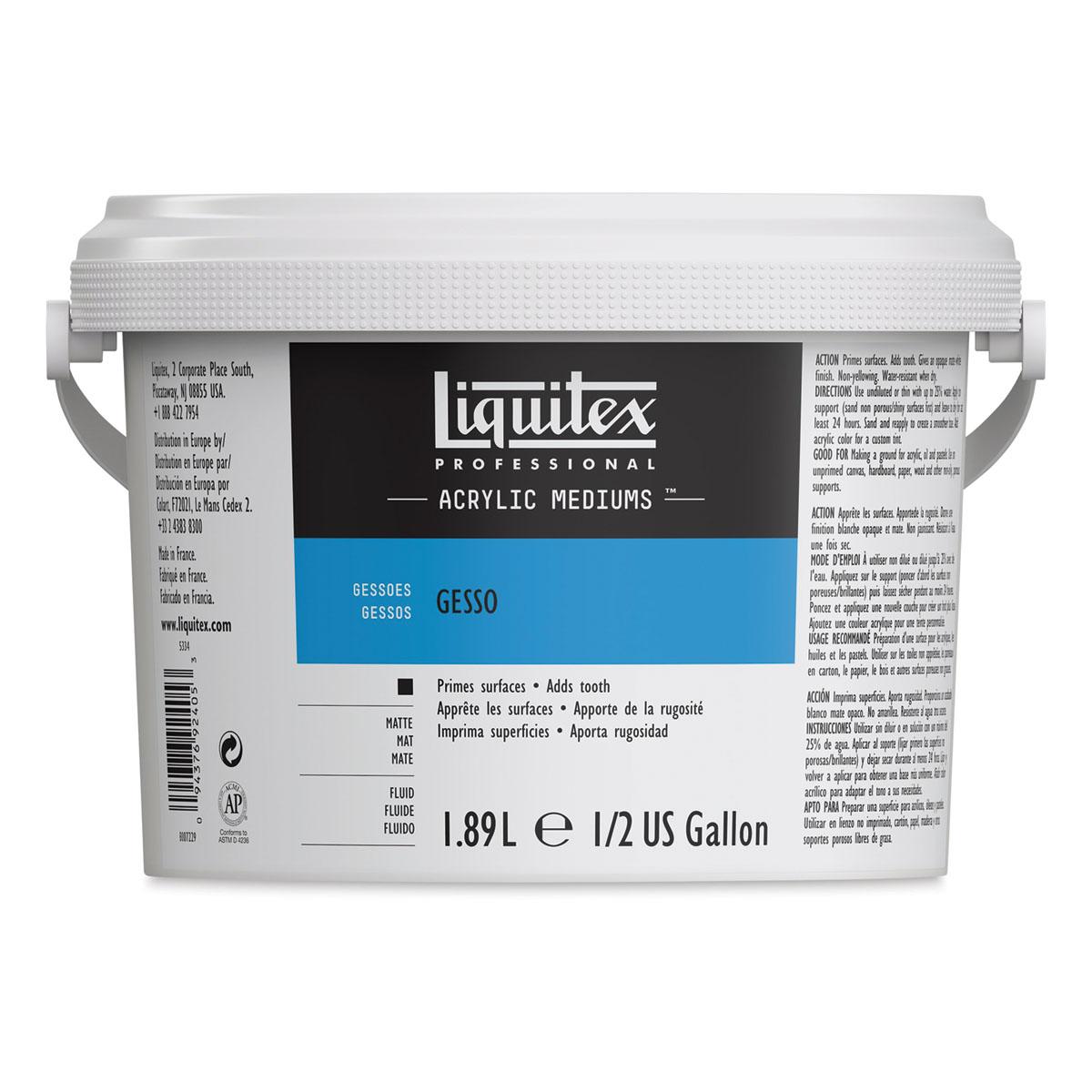 Liquitex Acrylic Gesso - White, Half Gallon