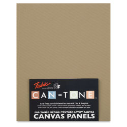 Fredrix Can-Tone Pre-Toned Canvas Panels - Cappuccino, 8'' x 10'', Pkg of 3