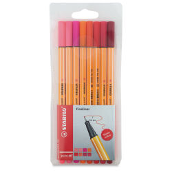 Stabilo Point 88 Fineliner Pen Set - Shades of Red, Set of 8