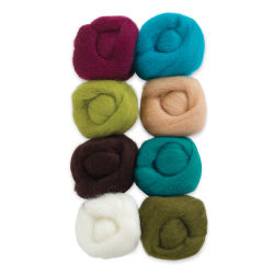 Wistyria Editions 100% Wool Roving - Chic, Pkg of 8