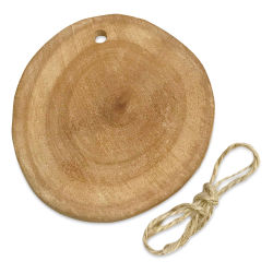 "DIY Designs Wood Slice Ornament - 3"" with Jute Cording"
