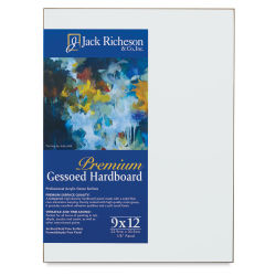 Richeson Toned Gessoed Hardboard Panel - 9'' x 12'', White, Flat Panel