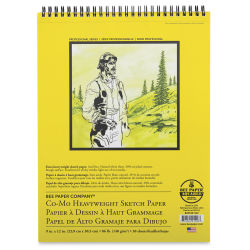Bee Paper Co-Mo Sketch Pad - 9'' x 12'', 30 Sheets