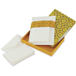 Fabriano Medioevalis Cards and Envelopes - 4-1/2'' x 6-3/4'', Folded, Box of 20