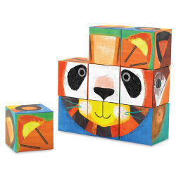 Crocodile Creek Mix and Match Block Puzzle - Make-a-Face, Animal