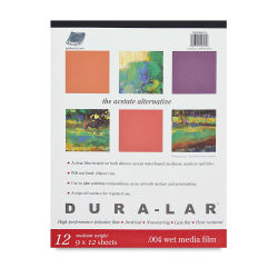 Grafix Dura-Lar Clear Acetate Alternative - 9'' x 12'' x .003'', Pad, 25 Sheets