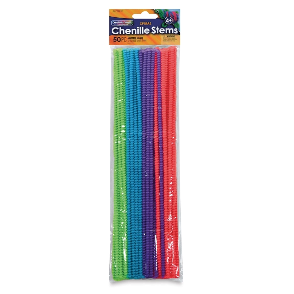 10 Pack Mid Brown 50cm Extra Long Craft Stems Pipe Cleaners Chenille 8mm