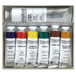 Williamsburg Handmade Oil Paints - Basic Painting Set, Set of 7 colors, 37 ml tubes