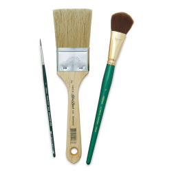 Silver Brush Art Sherpa Brush Set - Beginning & End Set of 3