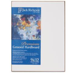 Richeson Toned Gessoed Hardboard Panel - 4'' x 4'', White, Flat Panel