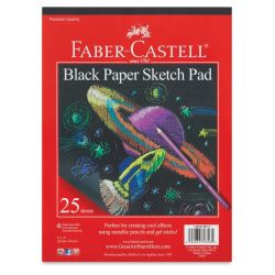 Black Paper Sketch Pad, 25 Sheets
