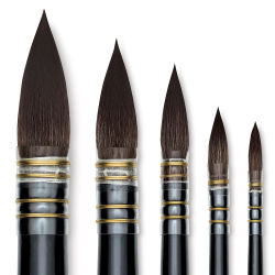 Da Vinci Casaneo Synthetic Squirrel Watercolor Brushes - Quill Round Washes
