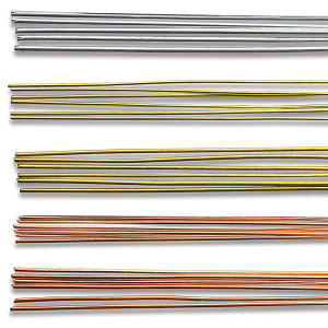 Flexible soft wire metal rods for crafting armatures