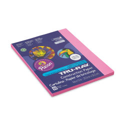 Pacon Tru-Ray Construction Paper - 9'' x 12'', Shocking Pink, 50 Sheets