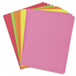 Pacon Card Stock - Hyper Colors, Pkg of 100 Sheets