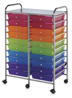 Mobile Storage Cart, 20-Drawer