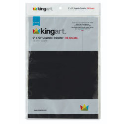 Kingart Graphite Transfer Paper - 25 Sheets, 9'' x 13''