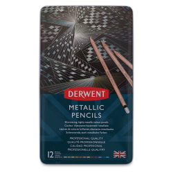 Derwent Professional Metallic Colored Pencils - Assorted Colors, Set of 12