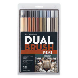 Tombow Dual Brush Pens - Neutral Colors, Set of 20