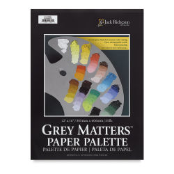 Richeson Gray Matters Paper Palette - 12'' x 16'', Gray, 50 Sheets