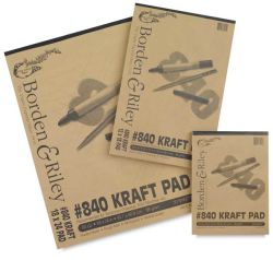 Borden & Riley Kraft Papers - 9'' x 12'', 50 Sheets