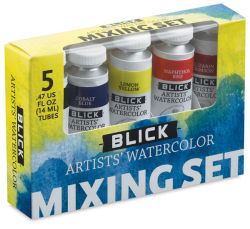 Blick Artists' Watercolors - Mixing Set, Set of 5 colors, 14 ml tubes