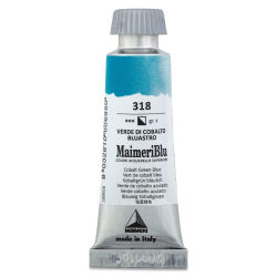 Maimeri Blu Artist Watercolor - Cobalt Green Blue, 12 ml Tube