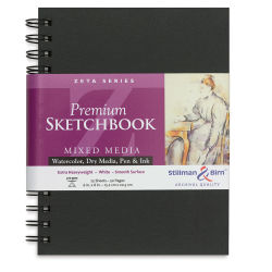 Stillman & Birn Archival Sketchbooks Zeta Series - 8'' x 6'', Portrait, Wirebound, 25 Sheets