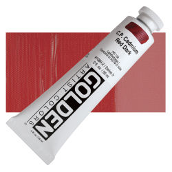 Golden Heavy Body Artist Acrylics - Cadmium Red Dark, 2 oz Tube