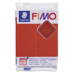 Staedtler Fimo Leather Effect Clay - Rust, 2 oz