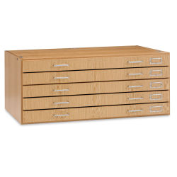 Diversified Woodcrafts Flat File System - 5-Drawer Unit, Oak (top and base not included)