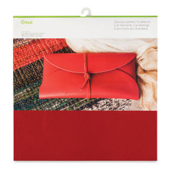 "Cricut Genuine Leather - Cranberry, 12"" x 12"""
