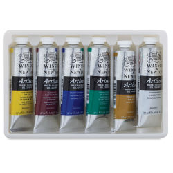 Winsor & Newton Artisan Water Mixable Oil Paints - Beginner Set of 6 Colors
