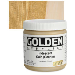 Golden Heavy Body Artist Acrylics - Iridescent Gold (Coarse)