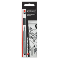 Marabu Fineliner Graphix Pen Set - Black, Set of 4