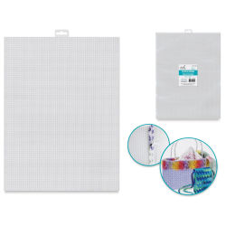 "Needle Crafters Plastic Canvas - White, 10-1/2"" W x 13-1/2 L (Shown with completed project)"