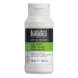 Liquitex Acrylic Mediums -  Gloss, 4 oz Bottle. Front of bottle.