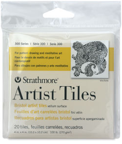300 Series Bristol Artist Tiles, Pkg of 20 Sheets