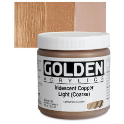 Golden Heavy Body Artist Acrylics - Iridescent Copper Light (Coarse), 8 oz Jar