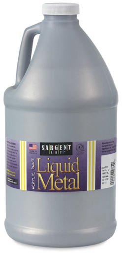Sargent Art Metallic Acrylic - Silver, 64 oz bottle