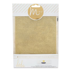 Heidi Swapp Minc Glitter Sheets - Gold, 6''x 8'', Pkg of 4