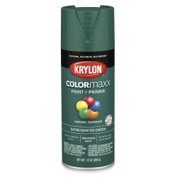Krylon Colormaxx Spray Paint - Hunter Green, Satin, 12 oz