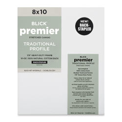 "Blick Premier Cotton Canvas - Back-Stapled, 7/8"" Traditional Profile, 8"" x 10"""