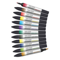 Winsor & Newton Promarker Watercolor Markers - Basic Colors, Set of 12
