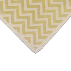 Lokta Paper - Chevron, Gold and Cream, 20'' x 30'', Single Sheet
