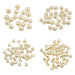 Craft Medley Pearl Glass Beads - Ivory, Assorted Sizes