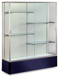 Spirit Series Display Case, Satin Aluminum Frame