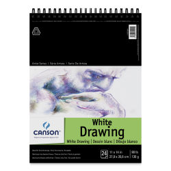 Canson Pure White Drawing Pad - 80 lb, 24 Sheets, 11'' x 14''